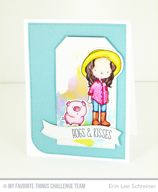 Hogs & Kisses Card by Erin Lee Schreiner featuring the Birdie Brown Green Pastures and the Whole Herd stamp sets and Blueprints 25 Die-namics