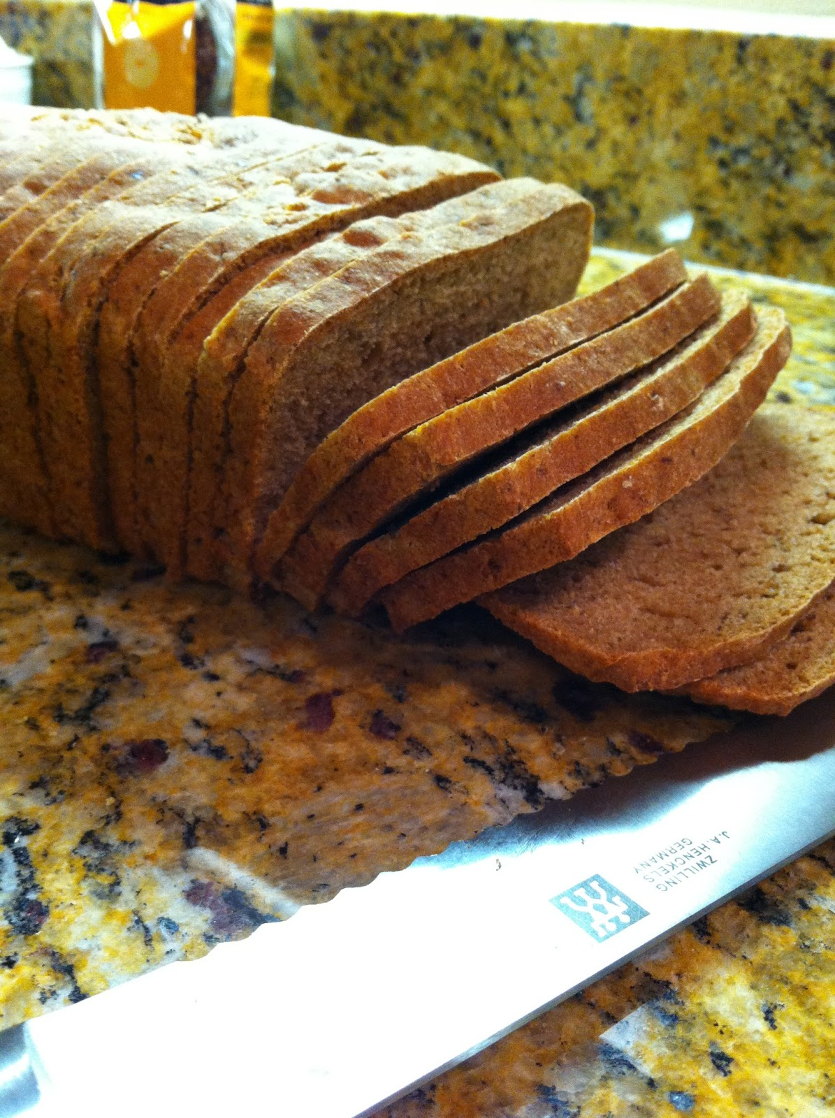 Real food on a real budget honey whole wheat sandwich bread all sliced up and ready for sandwiches forumfinder Image collections