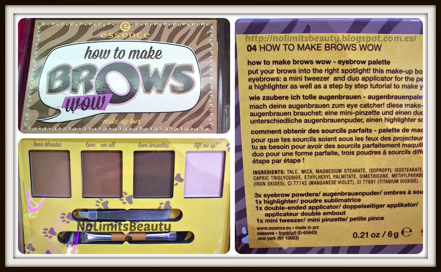 Novedades Essence - Make Up Boxes: How to make Brows Wow