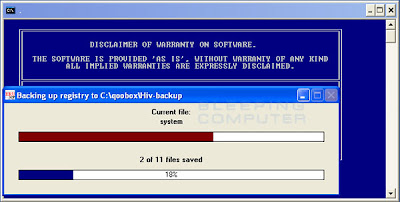 Combofix – Registry Backup
