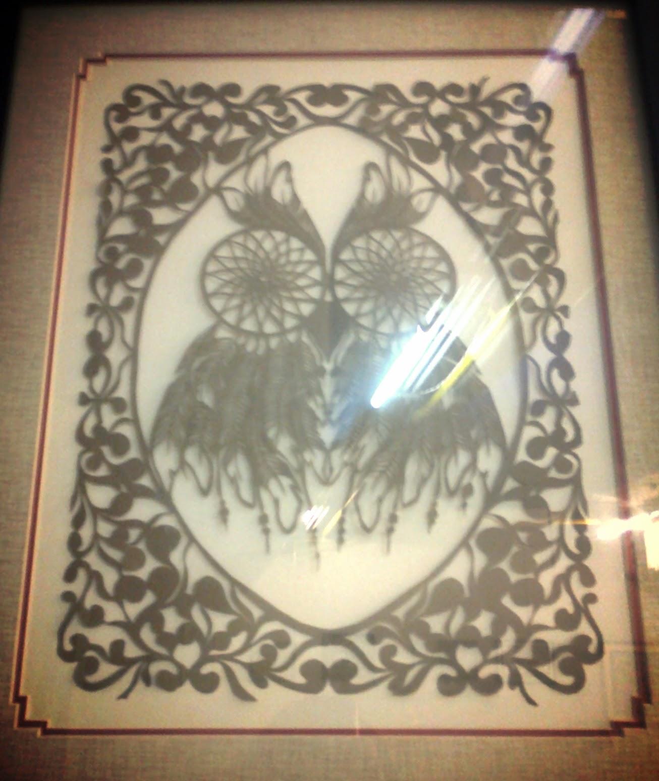 dreamcatcher owl papercuts