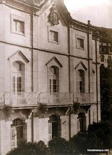 Fachada del Ayuntamiento de Candelario Salamanca hacia 1900