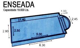 Modelo de piscinas em fibra