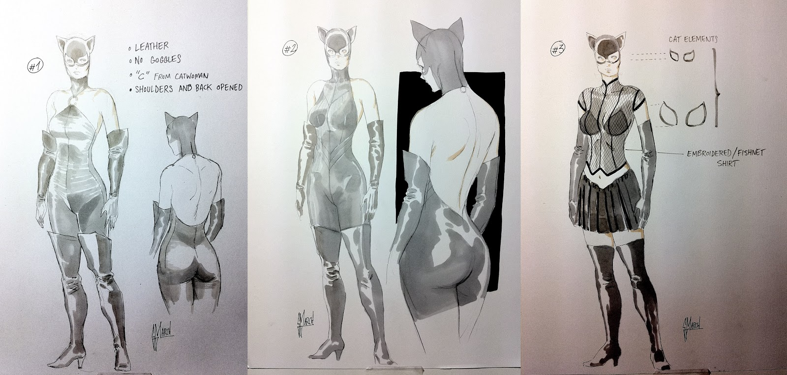 CATWOMAN designs by Guillem March