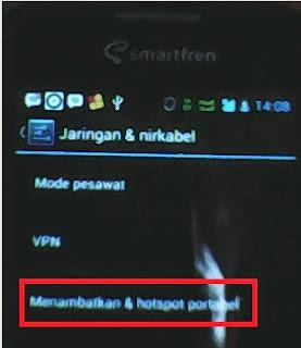 Gambar Cara Setting Ponsel Android Jadi Modem Komputer