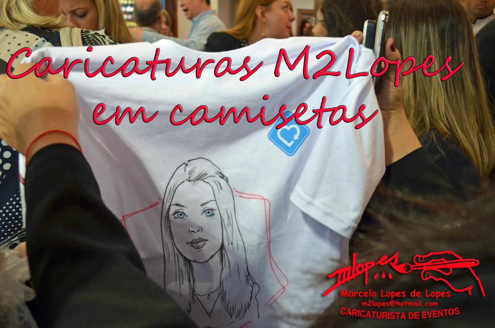 Caricaturas direto em camisetas