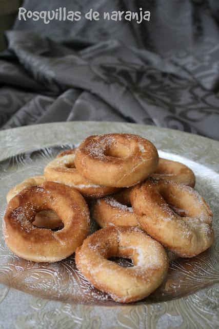 rosquillas, rosquillas de naranja