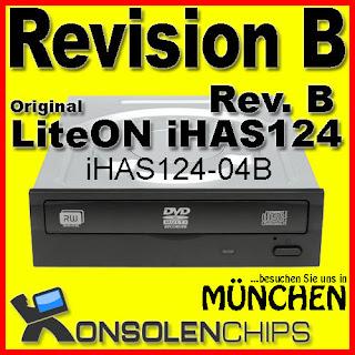 LiteON iHAS124B iHAS124-04B Rev. B | Für XBOX360 c4eva XGD3 BurnerMax Firmware