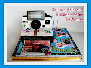 Camera Polaroid Birthday Cake for Candy