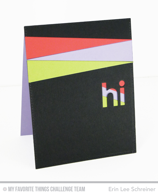 Graphic Hi Card by Erin Lee Schreiner featuring the Blueprints 25 and Happy Hellos Die-namics