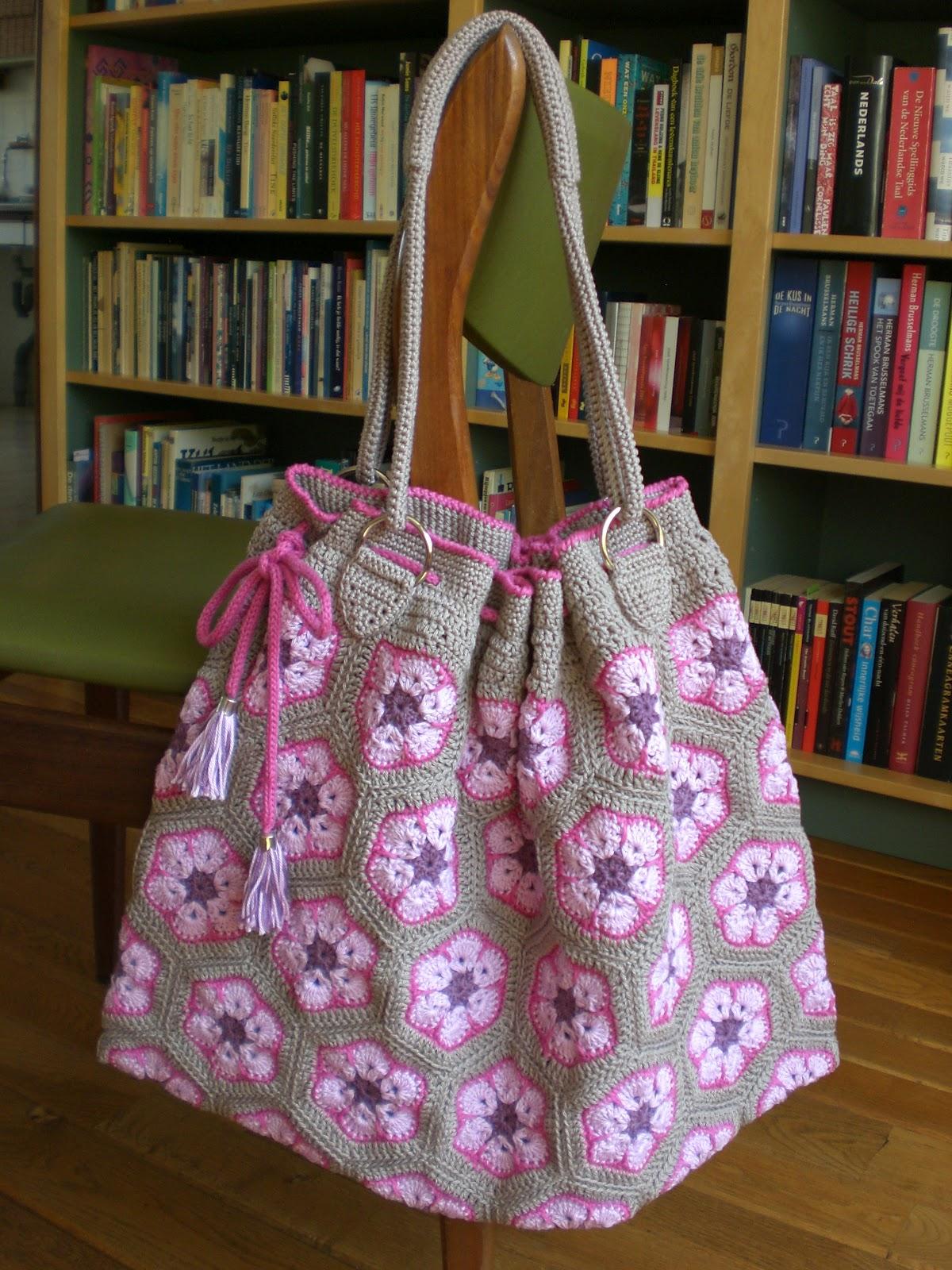 Tassen South Africa : Haak maar aan afrikaanse bloem tas