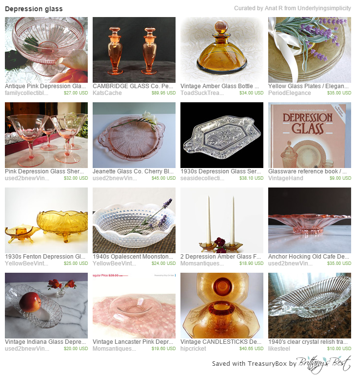 Depression glass on Etsy