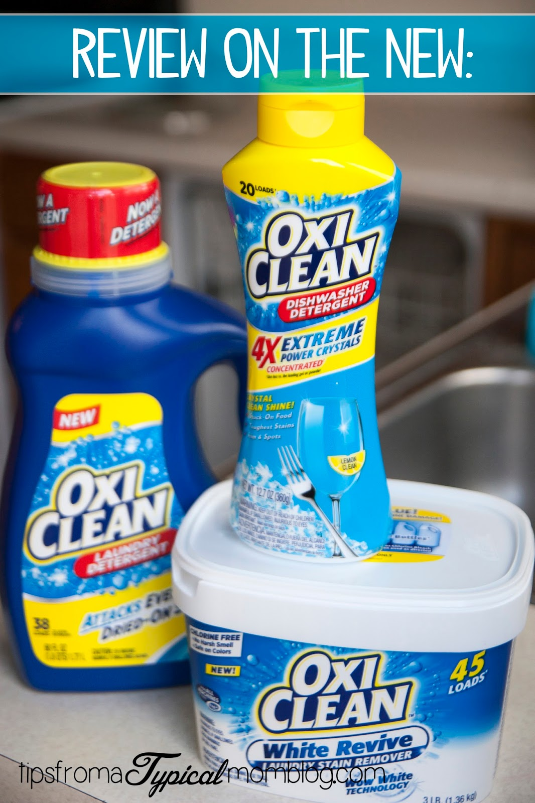 Sponsored: Spring Cleaning with OxiClean's New Products and a review from Tips From a Typical Mom. These cleaners are amazing! #MC