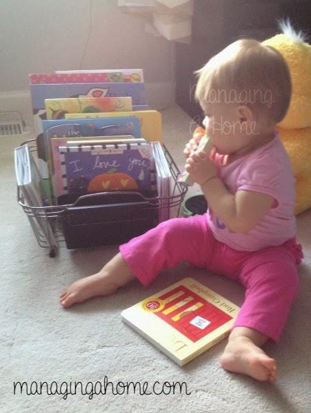 Baby enjoying books