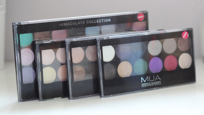 old MUA palettes to throw away