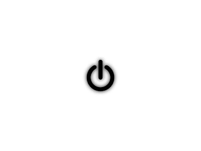 Simple Minimalist Power Button Logo HD Wallpaper