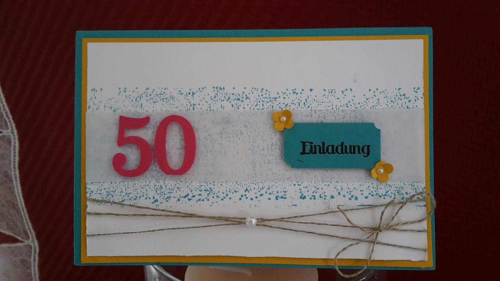 50. Geburtstag & Frau + Einladung