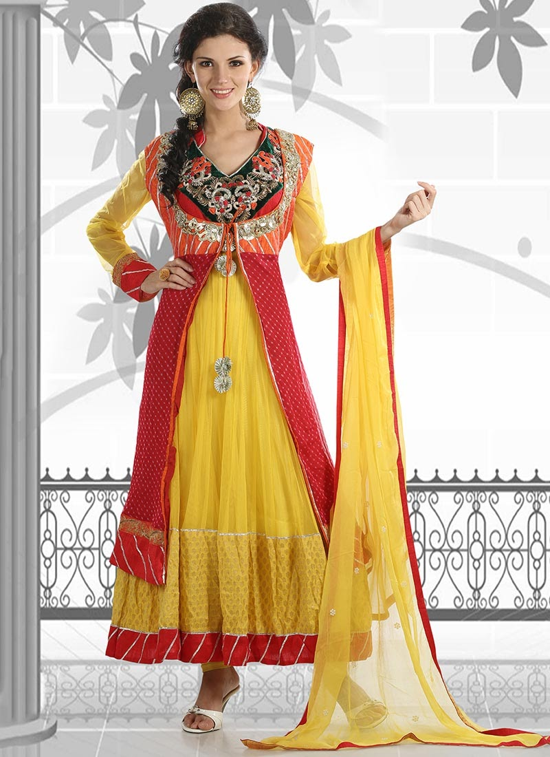 Simple New Stylish Party Wear Anarkali Dresses Collection 2015 For Girls | Fashion