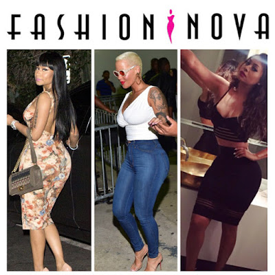 Fashion Nova Nicki Minaj,Amber Rose and Lala Anthony