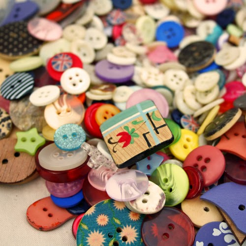 buttons including vintage wooden button