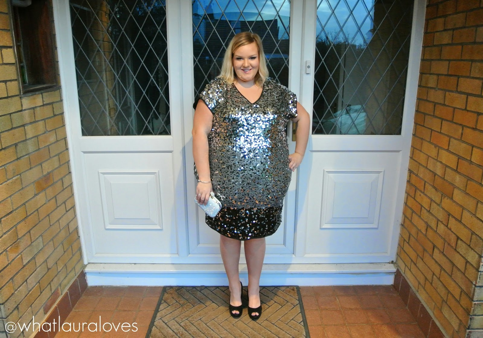 WhatLauraWore: Plus Size Sequin Dress | What Laura Loves
