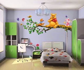 beautiful wall painting of winnie pooh