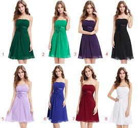 8-Color Strapless Front Floral Midi Chiffon Dress