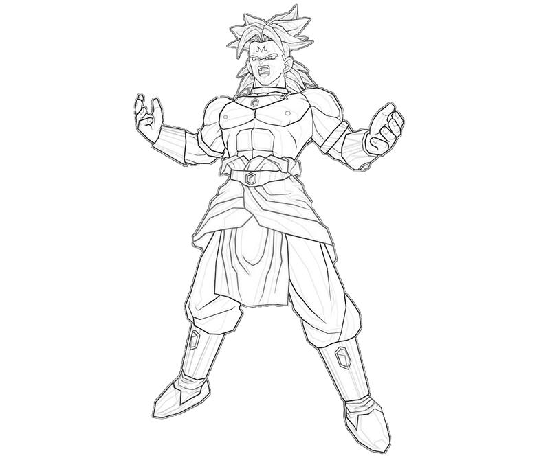 broly coloring pages - photo#2