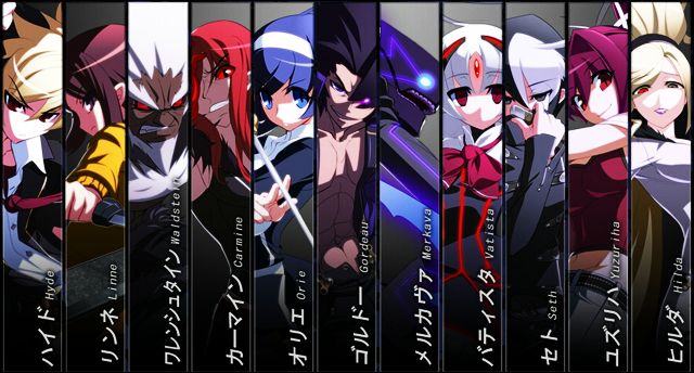 Under Night In-Birth Character-select