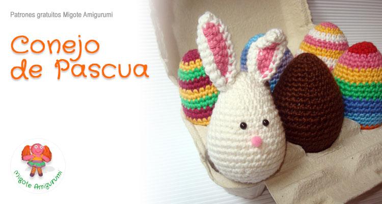 Conejo de Pascua - Patrón Gratis | Migote Amigurumi