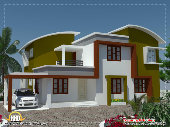 Modern minimalist house in Kerala View 1 - 2370 Sq. Ft. (220 Sq. M.) (263 Square Yards) - April 2012