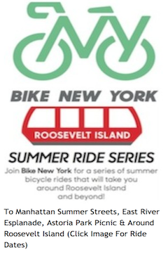 Bike New York Roosevelt Island Summer Excursions