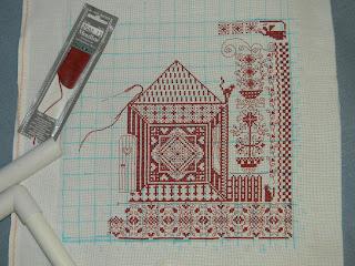 Схема вышивки крестом домашнего оберега дом
