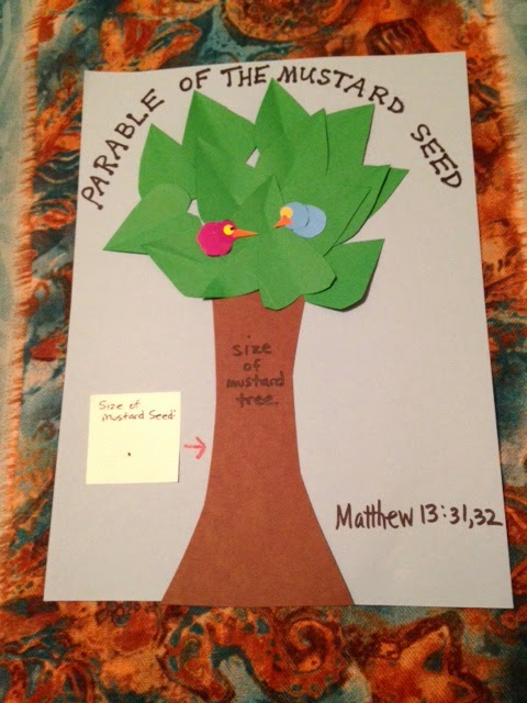 childrens bible lessons lesson parable of the mustard seed