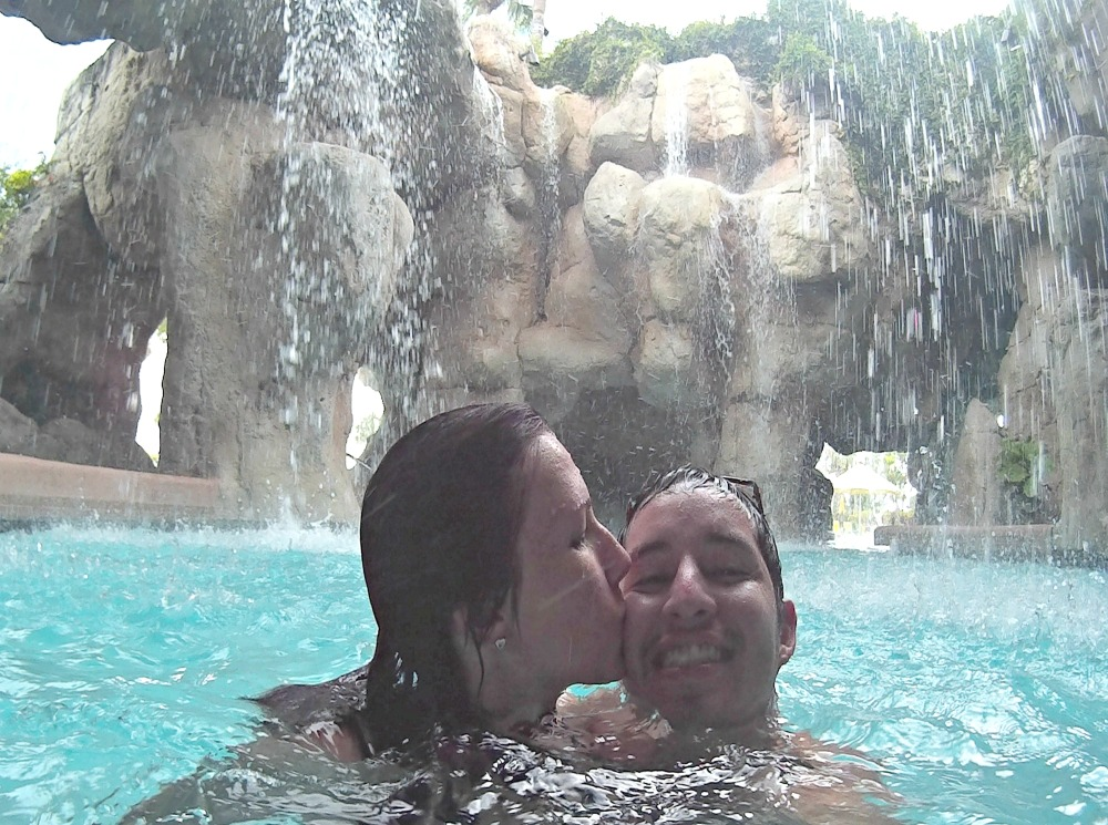 Grotto at the pool