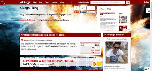 Novidade personalize seu blog no 4Blogs