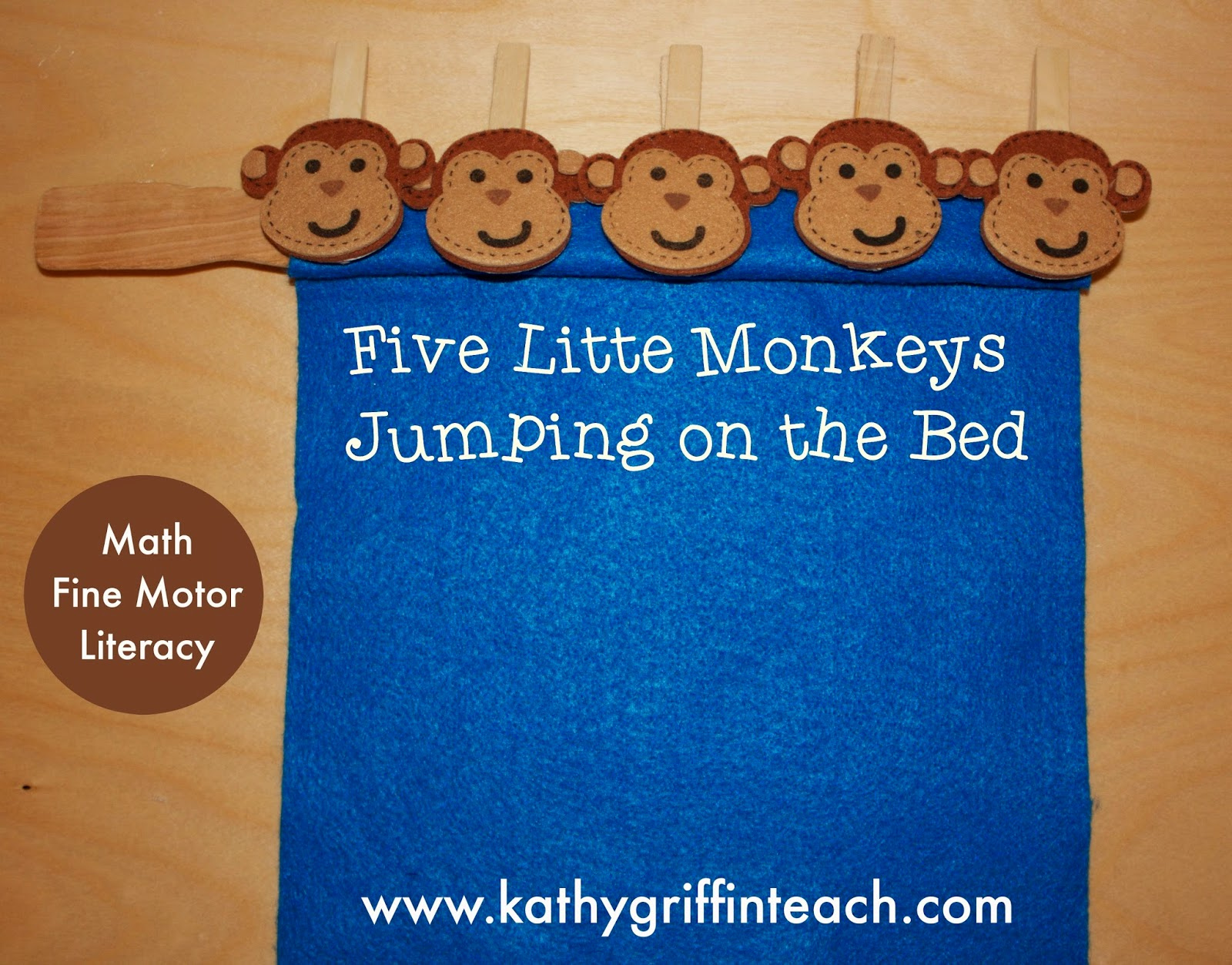 Five Little Monkeys Jumping On The Bed Activities Kathy Griffins