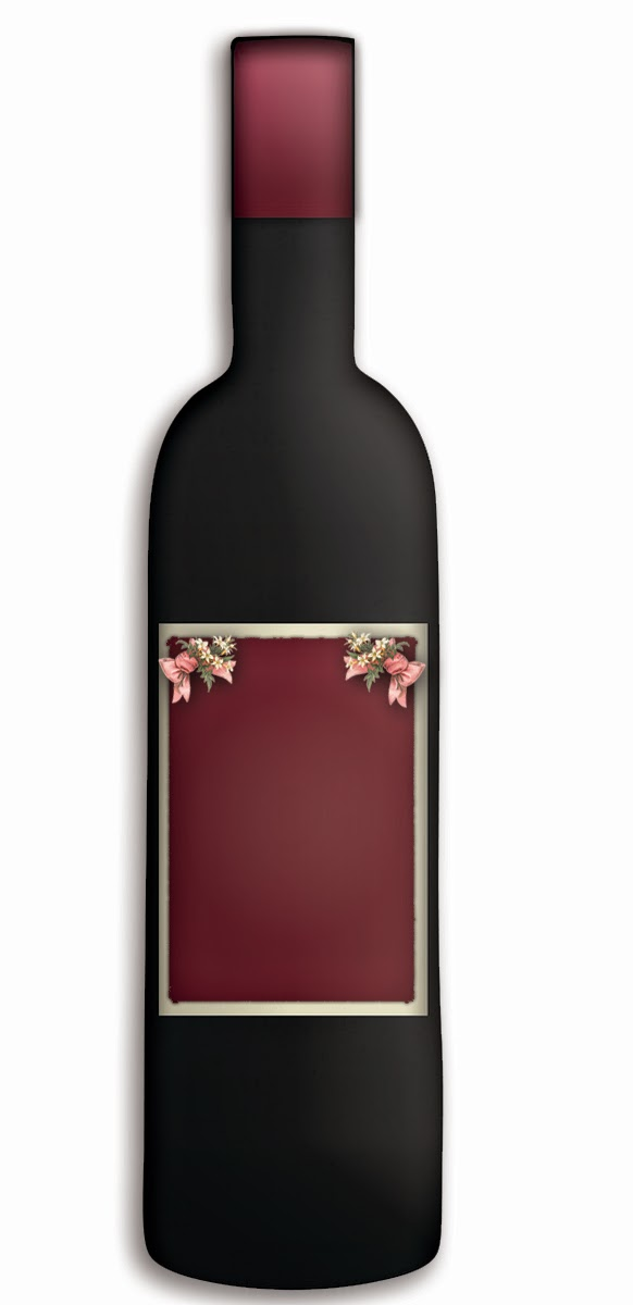 free graphics wine bottle blank label burgundy