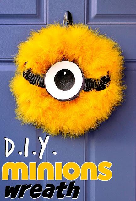 D.I.Y. Minions Wreath #MinionsMovieNight (Ad)