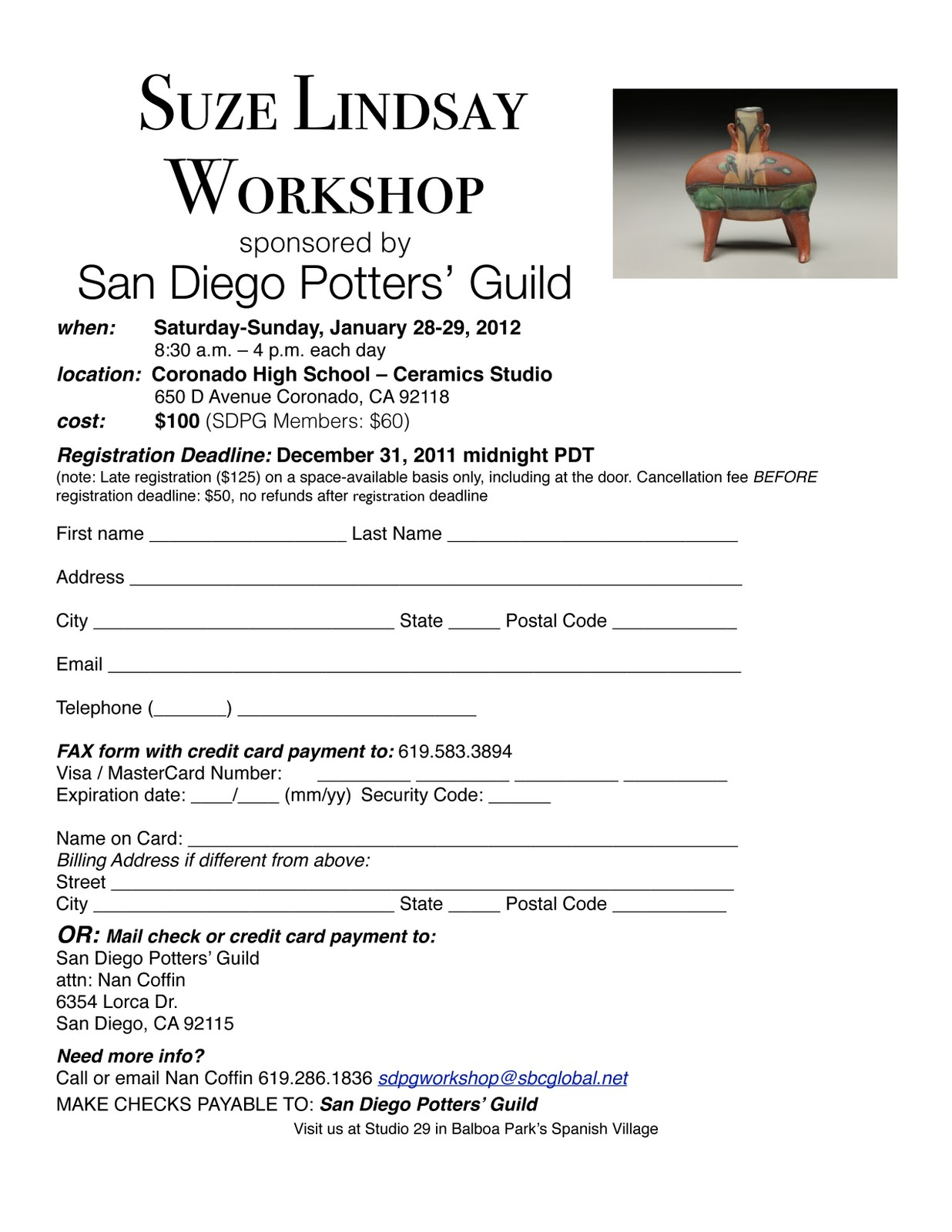 Upcoming workshops in san diego suze lindsay and bruce dehnert upcoming workshops in san diego suze lindsay and bruce dehnert maxwellsz