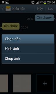 Thay đổi hình nền tin nhắn