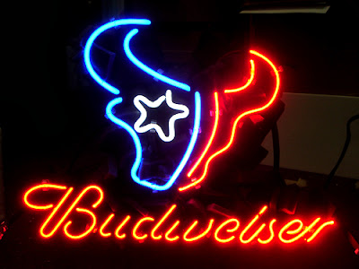 Wiki Neon Sign Blog BUDWEISER NFL HOUSTON TEXANS BEER #1: texan74 JPG