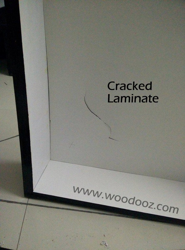 Laminate on wood