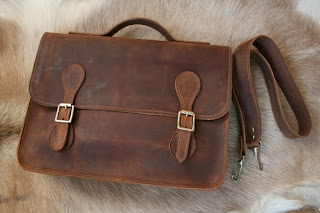 handmade leather briefcase satchel