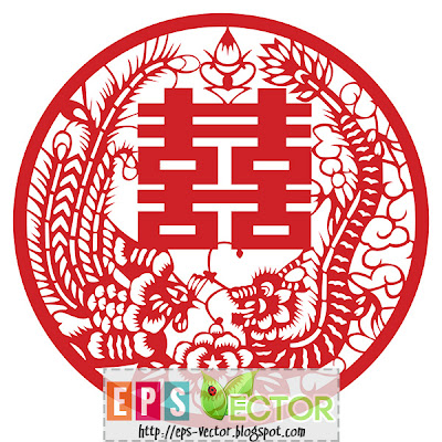 [Vector] - Chinese wedding decoration