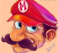 Ilustración Mario bros Cara