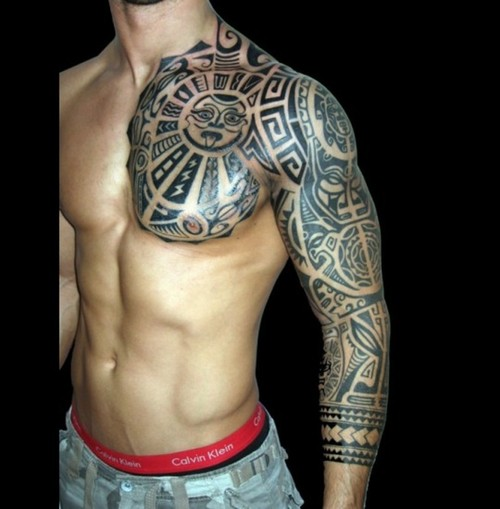 tribal arm tattoos for men sleeves