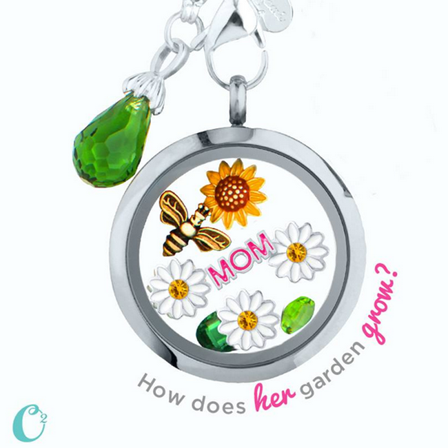 Garden Themed Mother's Day Origami Owl Living Locket | Shop StoriedCharms.com