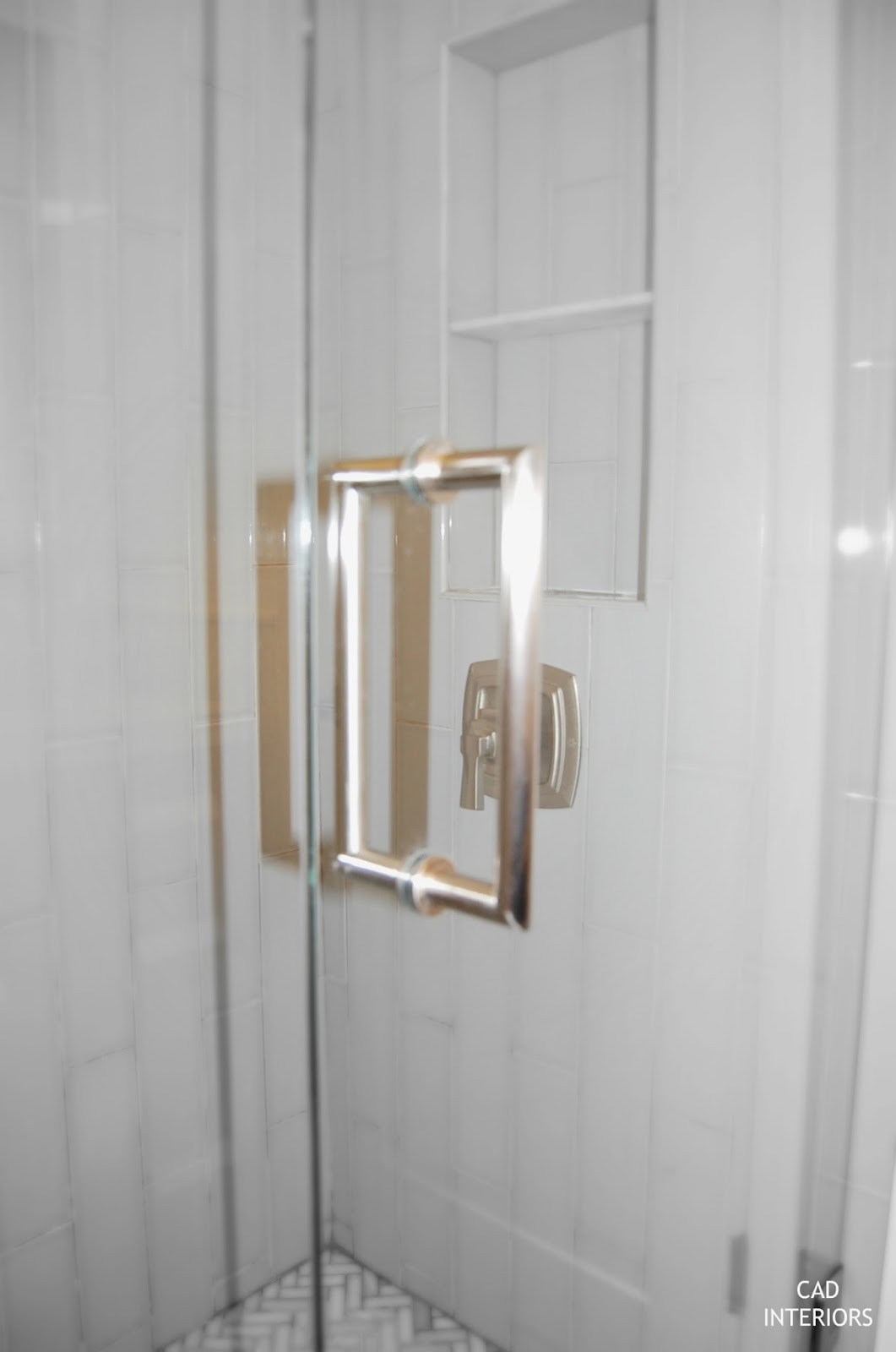 CAD INTERIORS main bathroom renovation custom frameless shower door enclosure fixtures