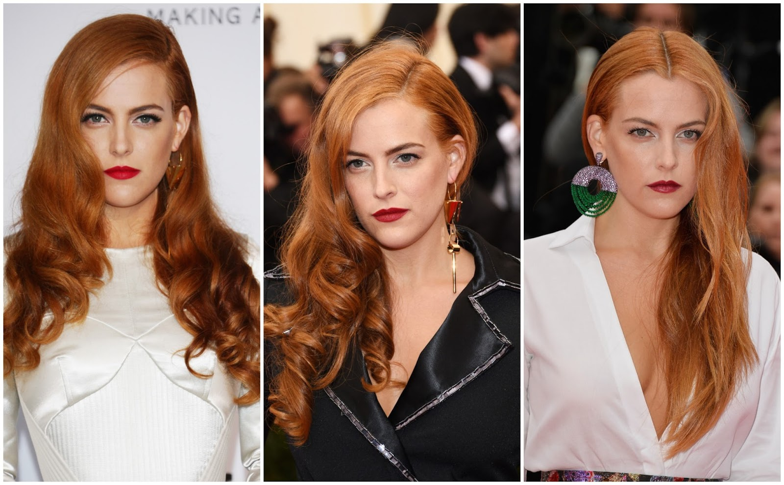 riley keough red hair met gala cannes